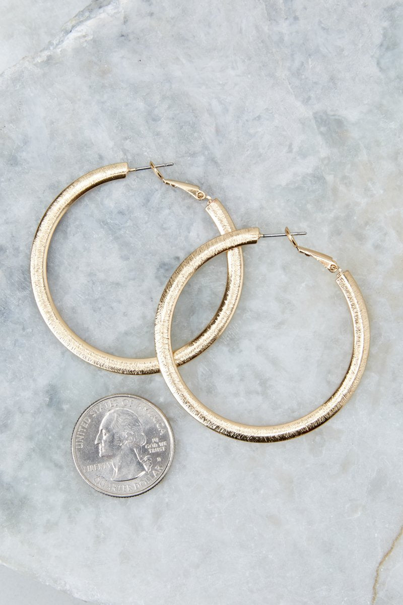 3 Admit The Truth Gold Hoop Earrings at reddress.com