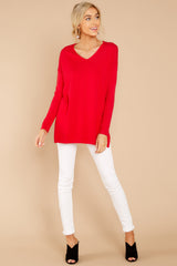 2 Give It A Rest Bright Red Sweater @ reddress.com