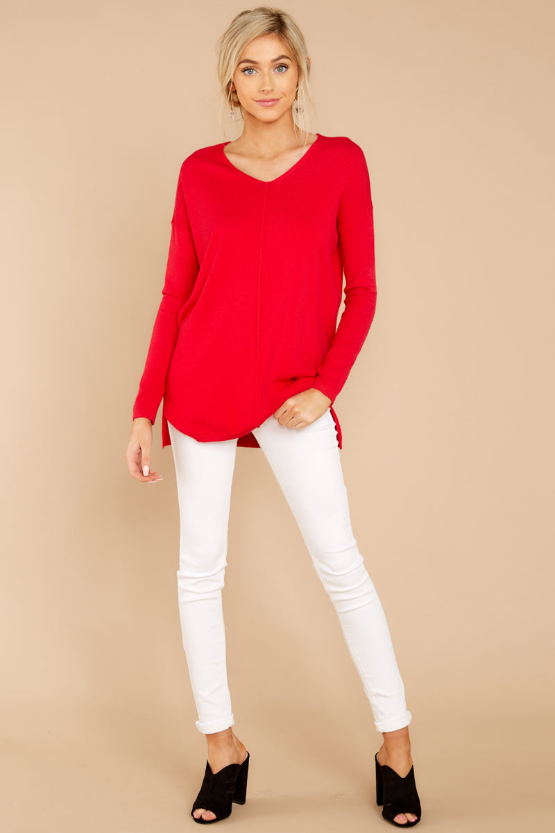 3 Give It A Rest Bright Red Sweater @ reddress.com