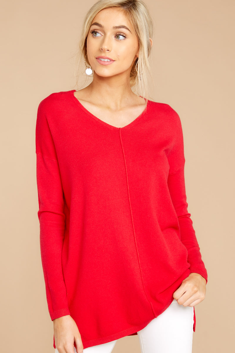 4 Give It A Rest Bright Red Sweater @ reddress.com