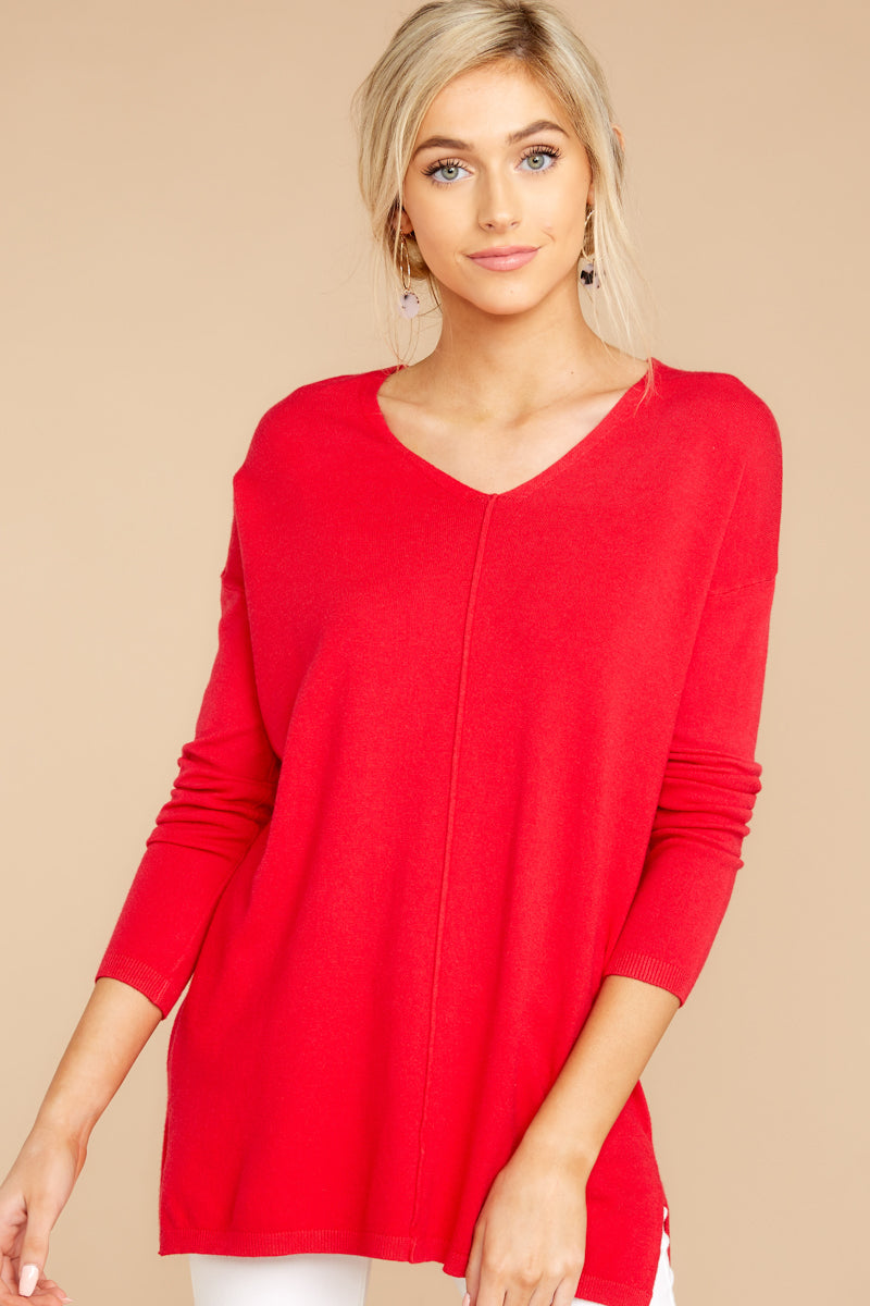1 Give It A Rest Bright Red Sweater @ reddress.com