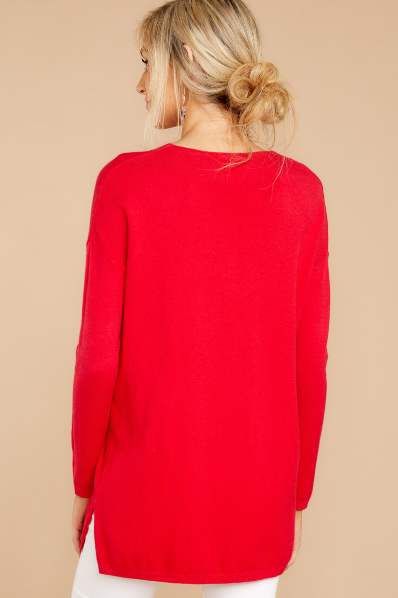 8 Give It A Rest Bright Red Sweater @ reddress.com
