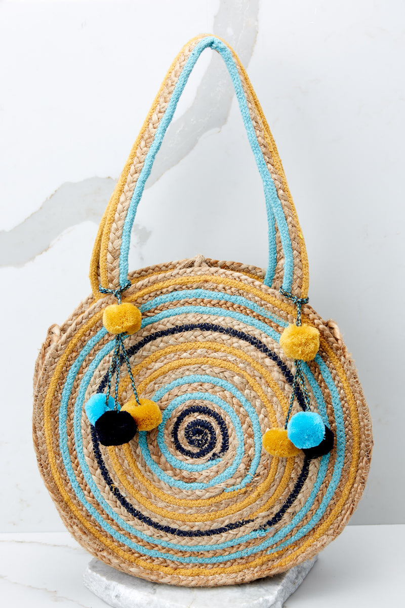 Roam Together Round Blue and Yellow Bag