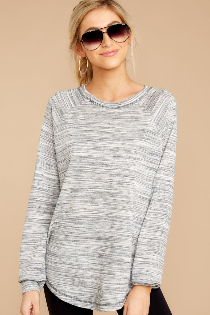 1 No Looking Back Grey Top at reddressboutique.com