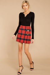 In The Highlands Red Plaid Skirt