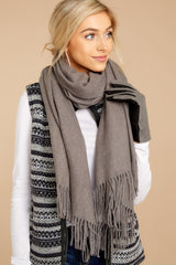 1 Main Thing In Maine Grey Scarf at reddressboutique.com