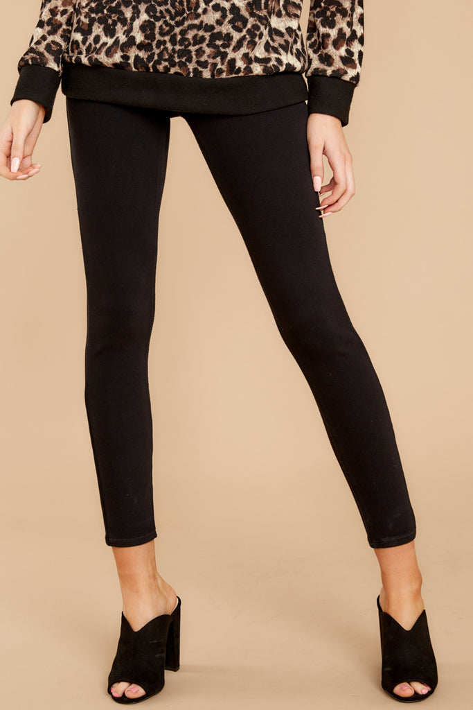 1 Black 4-Pocket Skinny Ponte Pants at reddressboutique.com