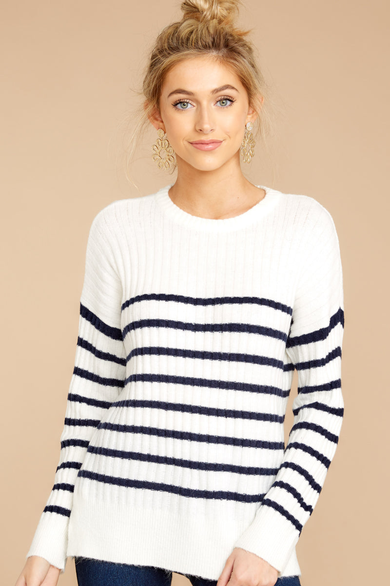Come Sail Away Navy Stripe Sweater