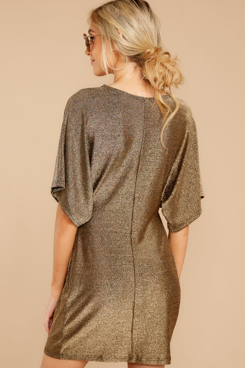 Worth Its Weight Gold Shimmer Dress