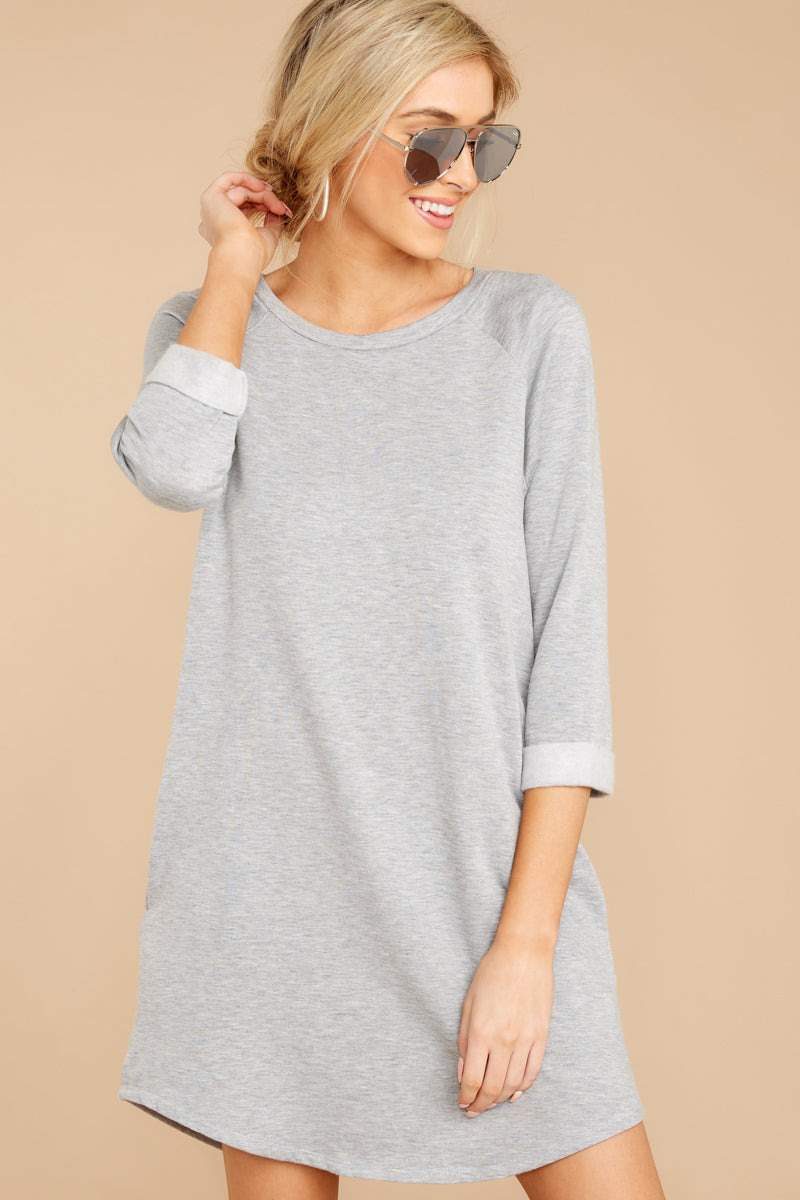 4 Movers And Shifters Grey Sweatshirt Dress at reddressboutique.com
