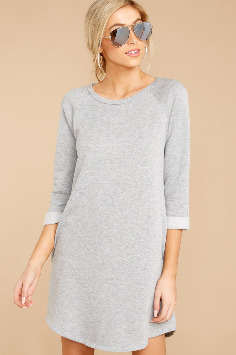 5 Movers And Shifters Grey Sweatshirt Dress at reddressboutique.com