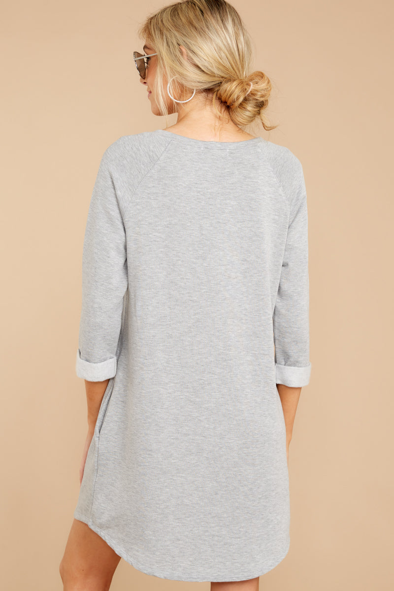 6 Movers And Shifters Grey Sweatshirt Dress at reddressboutique.com
