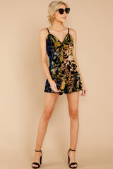 Going Prowlin' Navy Sequin Romper