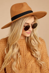 2 Take Me Walking tan Hat at reddressboutique.com