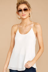 Believe In Basics White Tank