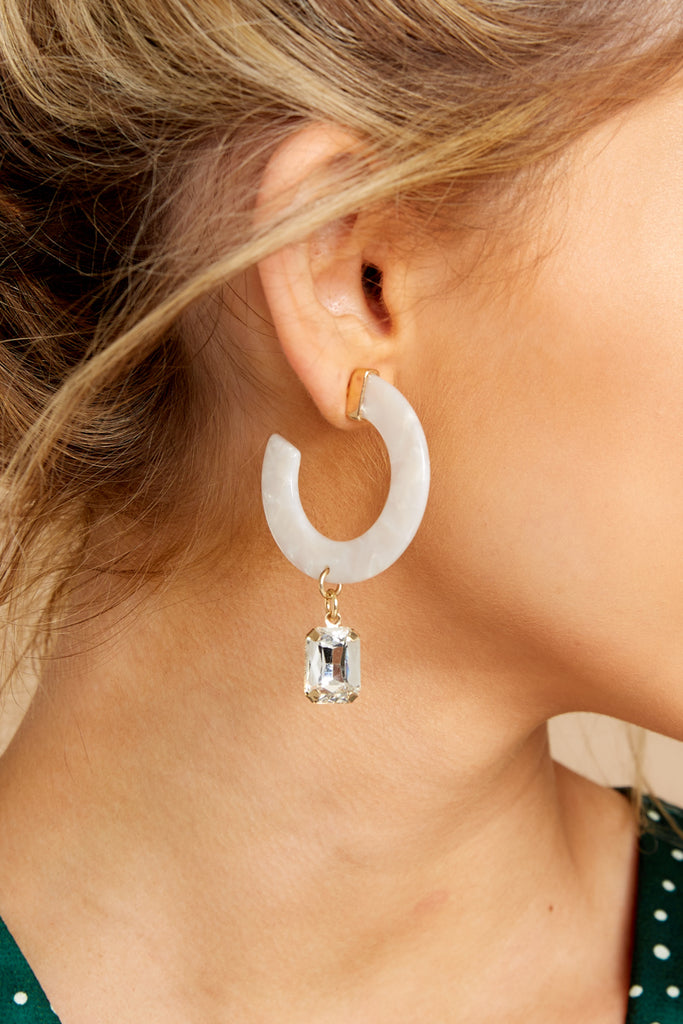 1 Royal Me Crystal Jewel Earrings at reddressboutique.com