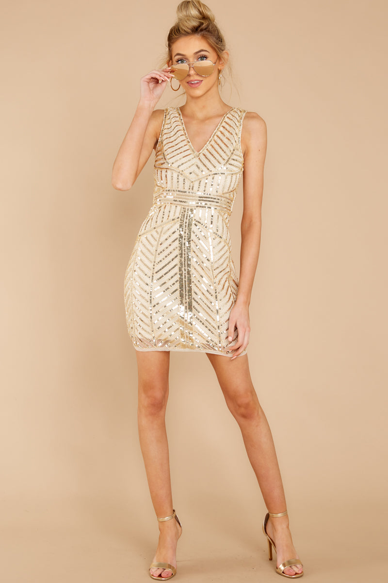 14b5f07eeb2 Sexy Gold Sequin Dress - Shimmery 20's Party Dress - Dress -$52.00 ...
