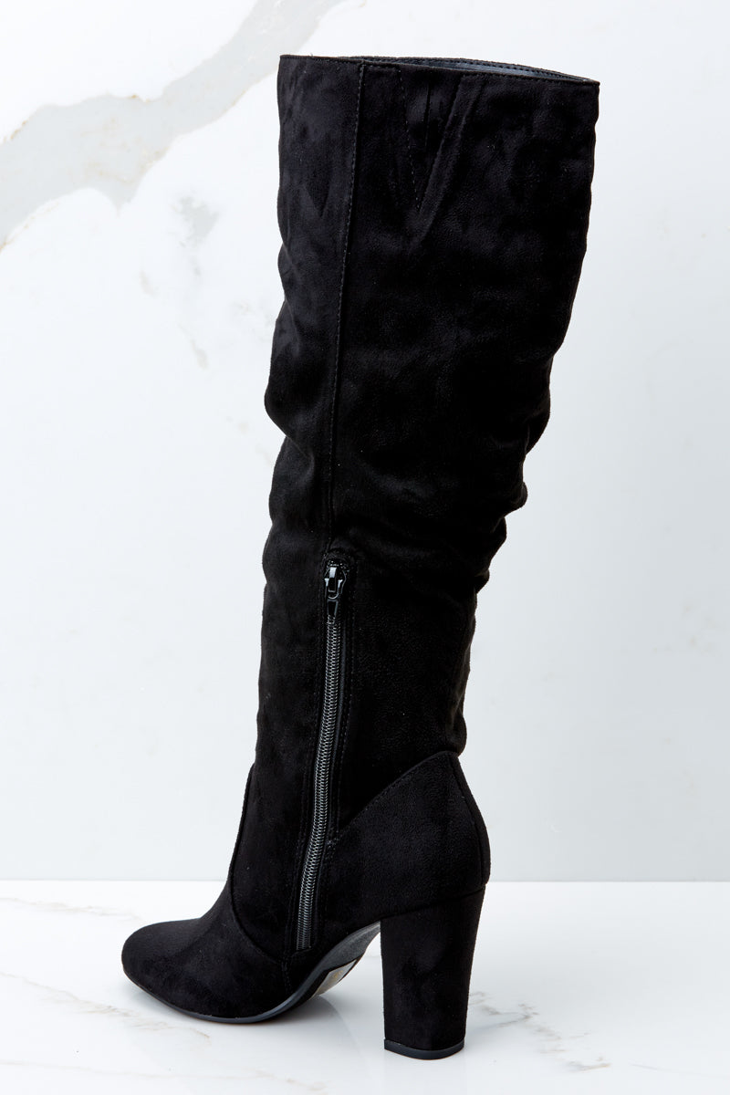 Start From Here Black High Heel Boots
