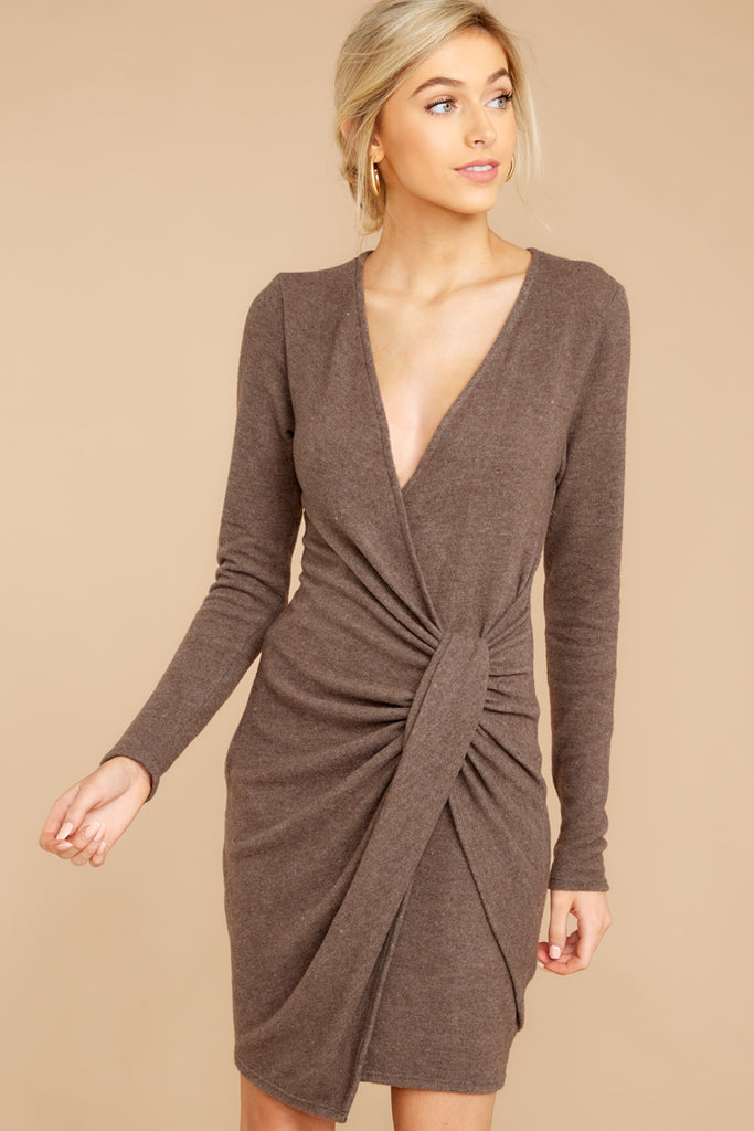 Knot At All Olive Dress