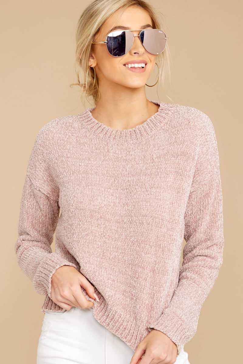 All Is Fair Dusty Pink Sweater