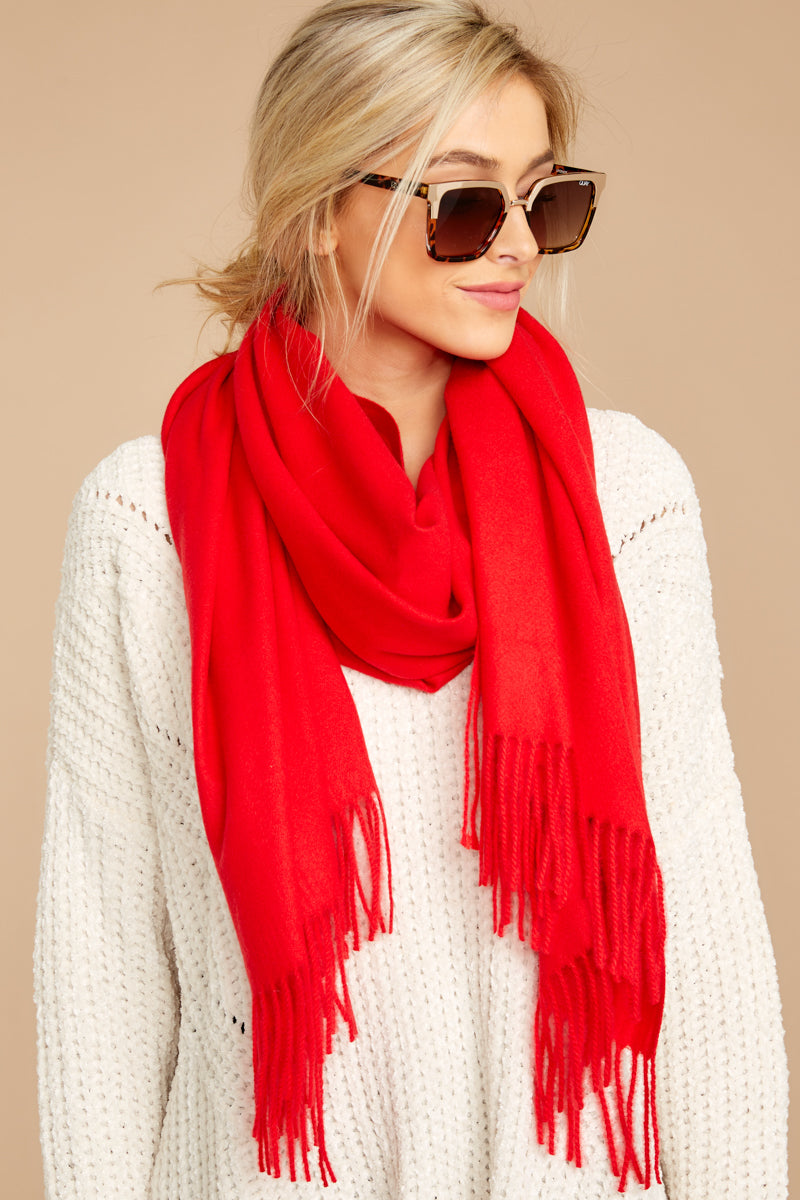Main Thing In Maine Red Scarf