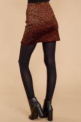 Can't Deal Leopard Print Skirt
