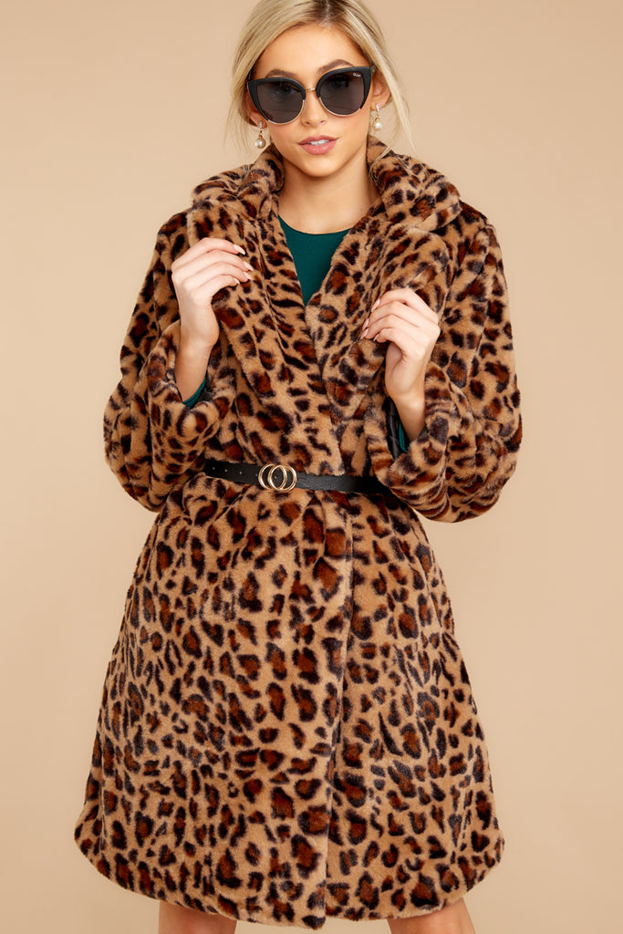 1 Sherpa Teddy Bear Coat In Toffee at reddressboutique.com