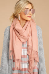Main Thing In Maine Blush Scarf