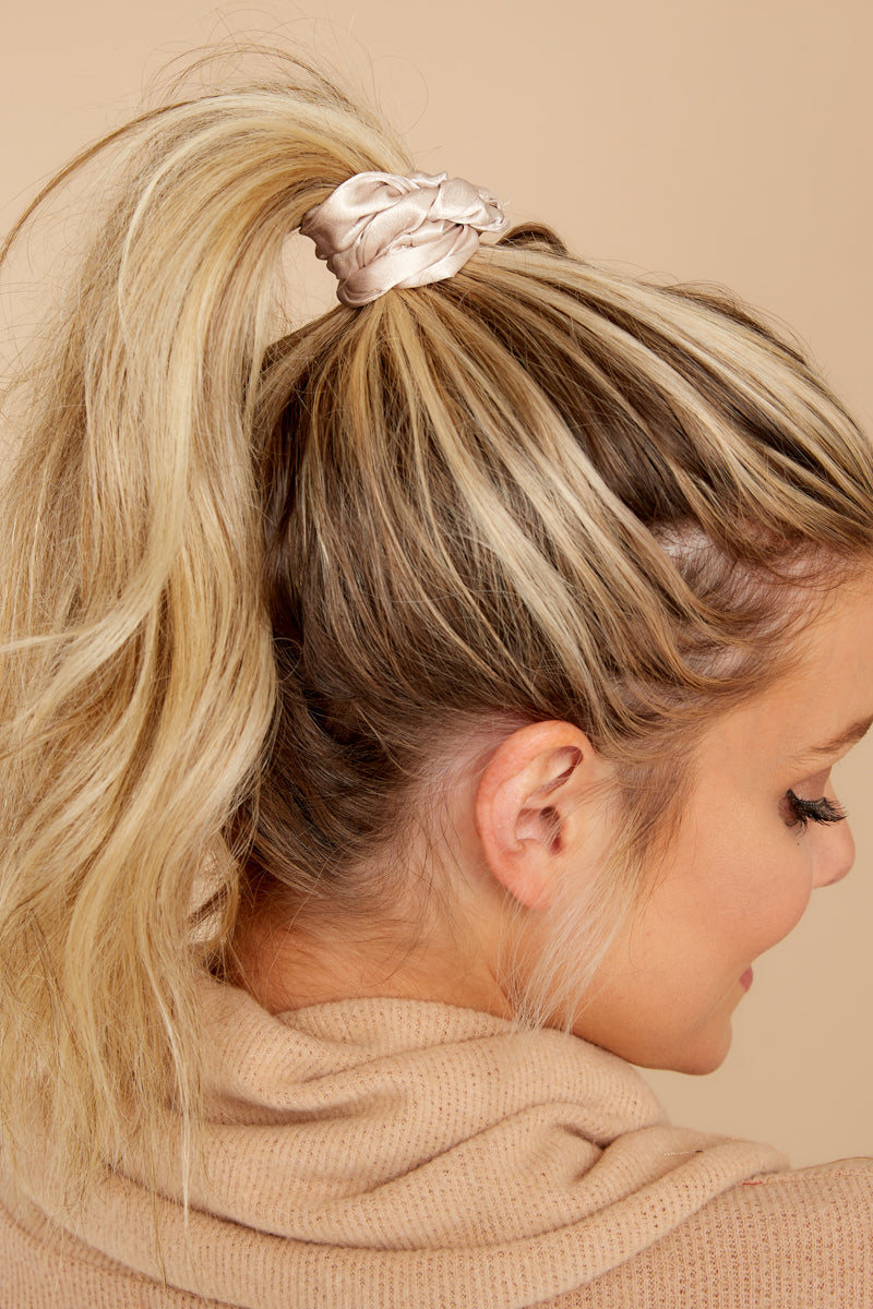The Hannah Scrunchie In Beige