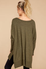 Pace Yourself Olive Green Top