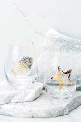 2 Catch The Wave Stemless Wine Glass Set at reddressboutique.com
