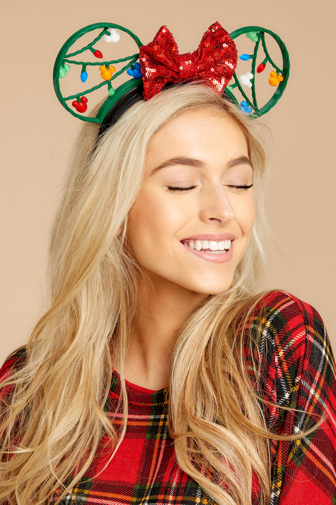 1 Baby It's Cold Outside With Buffalo Plaid Bow at reddressboutique.com