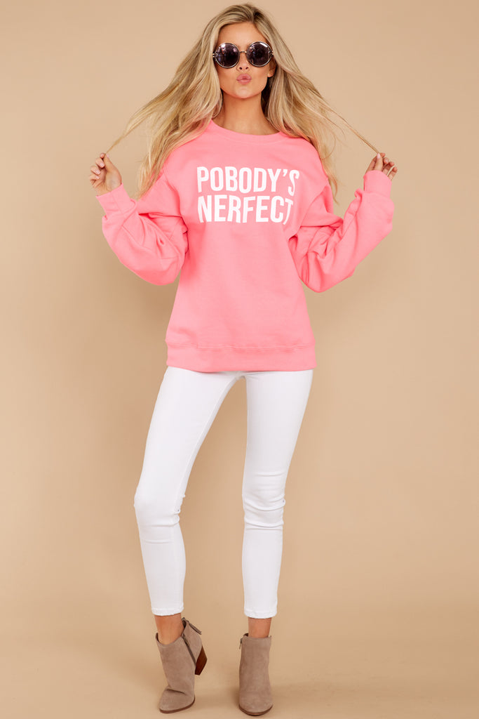 3d73c67ddac Sassy Bright Pink Graphic Sweatshirt - Fun Phrase Pullover - Top -  46 –  Red Dress