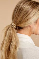 Drop Me A Line Gold Hair Tie Set Of Three
