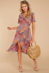 Tell The Difference Midi Dress In Caught In Cabo
