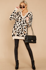 4 In Your Scope Leopard Print Sweater at reddressboutique.com