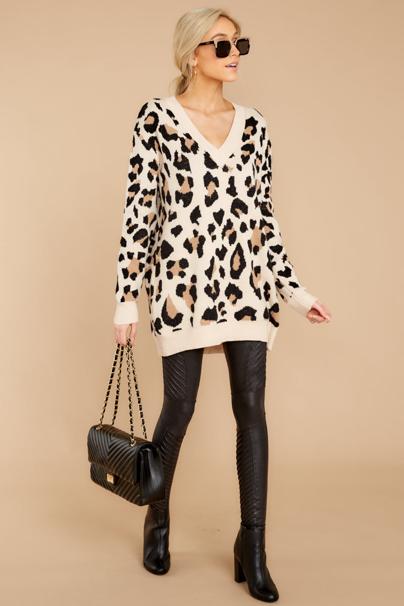 5 In Your Scope Leopard Print Sweater at reddressboutique.com