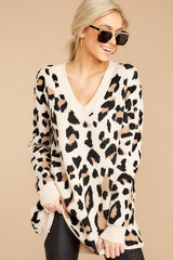 7 In Your Scope Leopard Print Sweater at reddressboutique.com