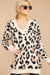 8 In Your Scope Leopard Print Sweater at reddressboutique.com