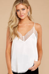 8 It's Just Simple White Lace Tank Top at reddress.com