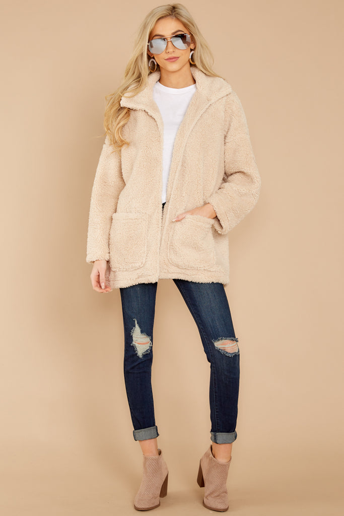 1 Warm Regards Blush Sherpa Jacket at reddressboutique.com