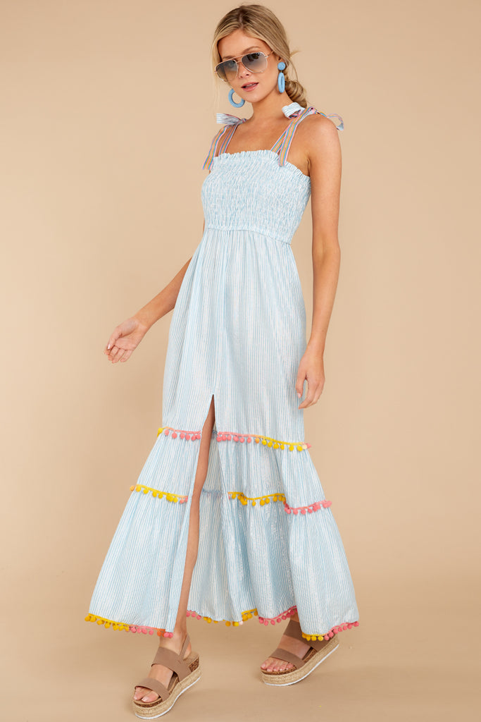 3 Chic On Vacay White Striped Maxi Dress at reddressboutique.com