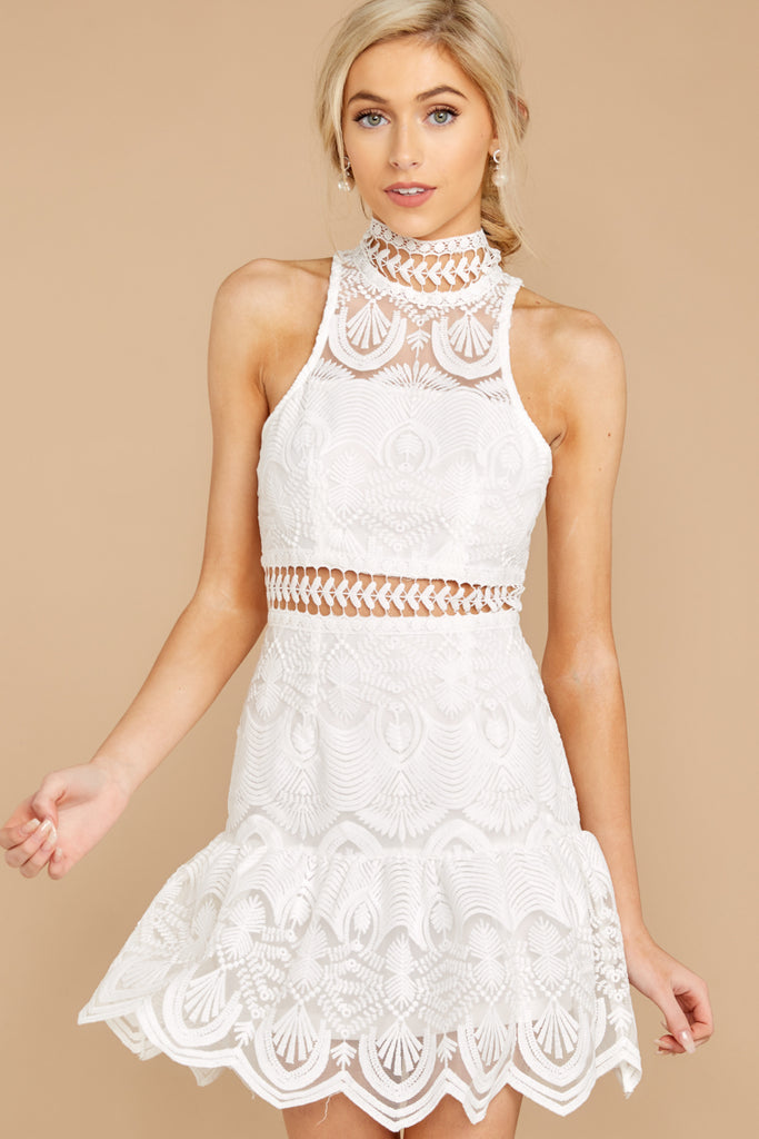 1 Final Impression White Lace Dress at reddressboutique.com