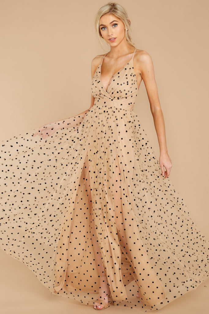 3 Catwalk Couture Nude Embroidered Maxi Dress at reddressboutique.com