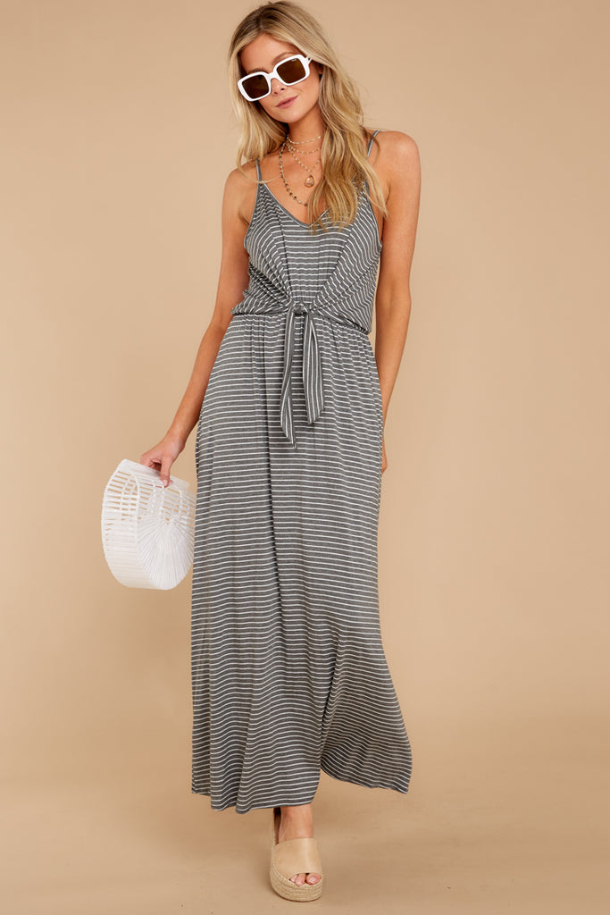 5 Have To Have This Grey Striped Dress at reddressboutique.com
