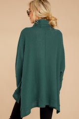 Spark My Memory Evergreen Cowl Neck Top