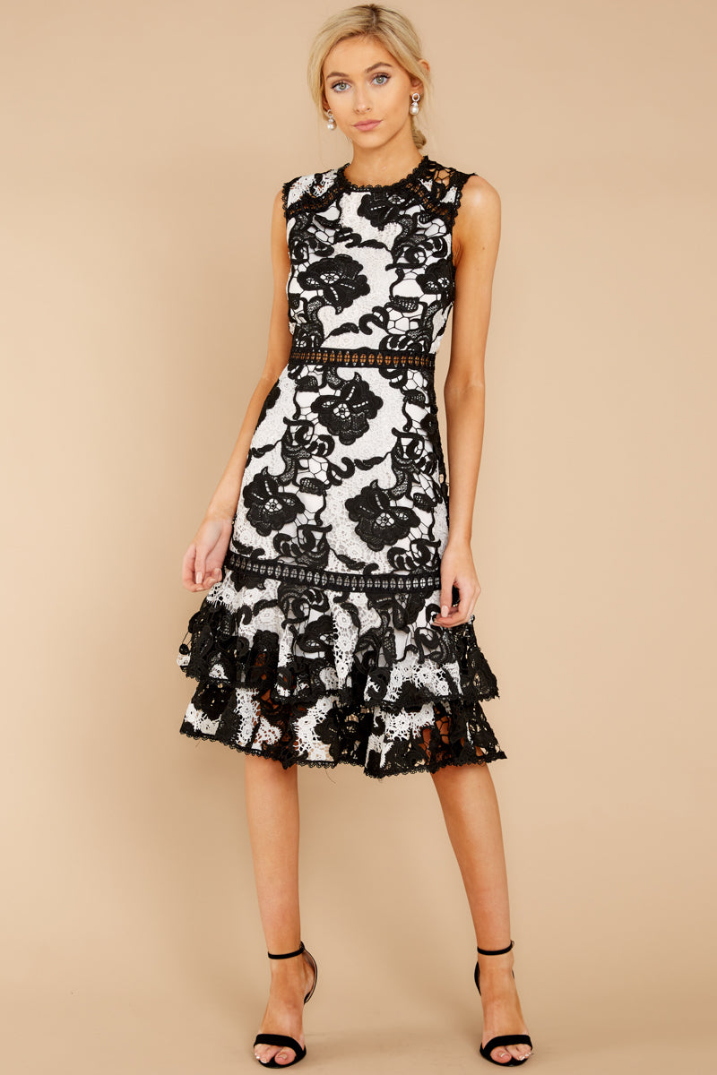 Annual Garden Party Black Lace Dress