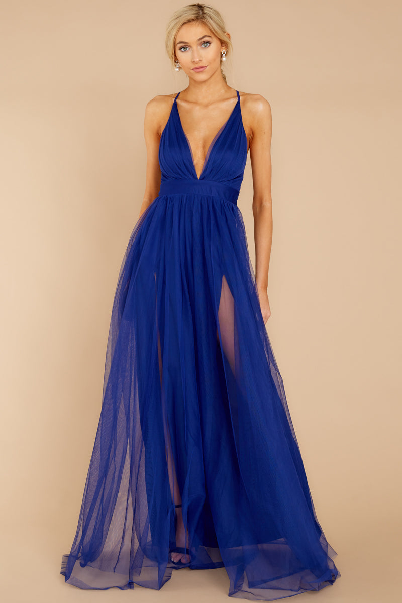Matters Of The Heart Royal Blue Maxi Dress