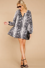 2 Go Out In Style Dress In Snake A Chance at reddressboutique.com