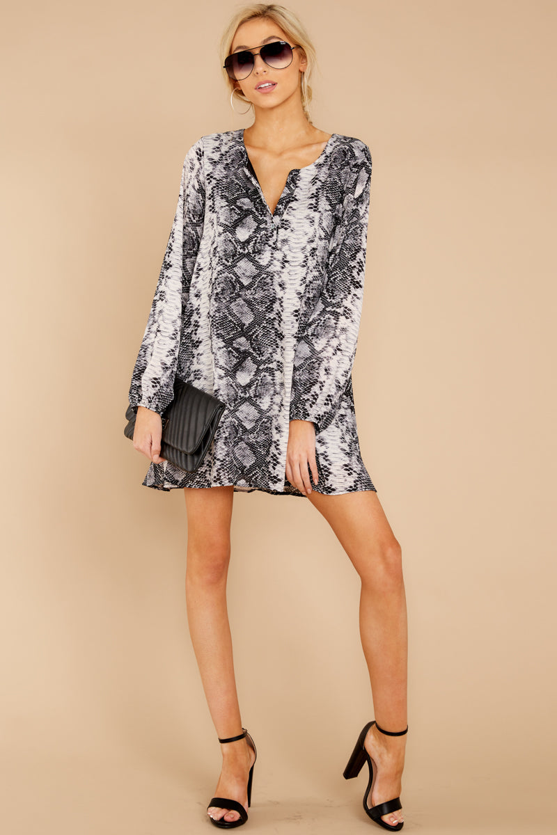 3 Go Out In Style Dress In Snake A Chance at reddressboutique.com